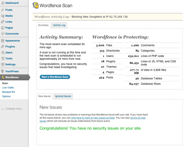 Wordfence screenshot-1