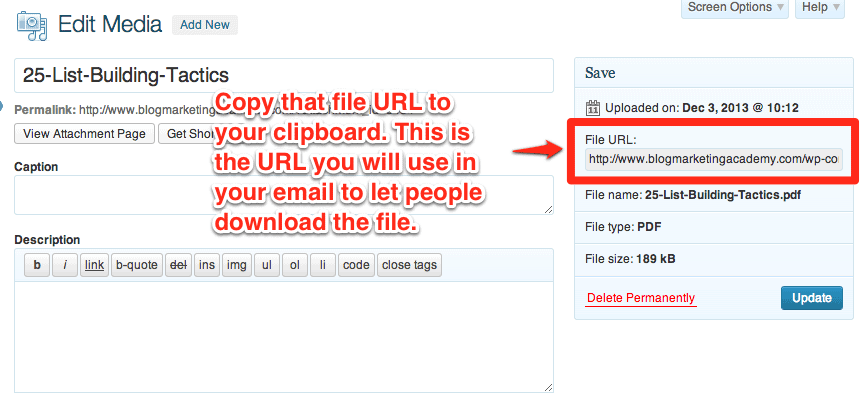 email-list-giveaway-url