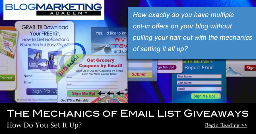 how to set up system to build email list