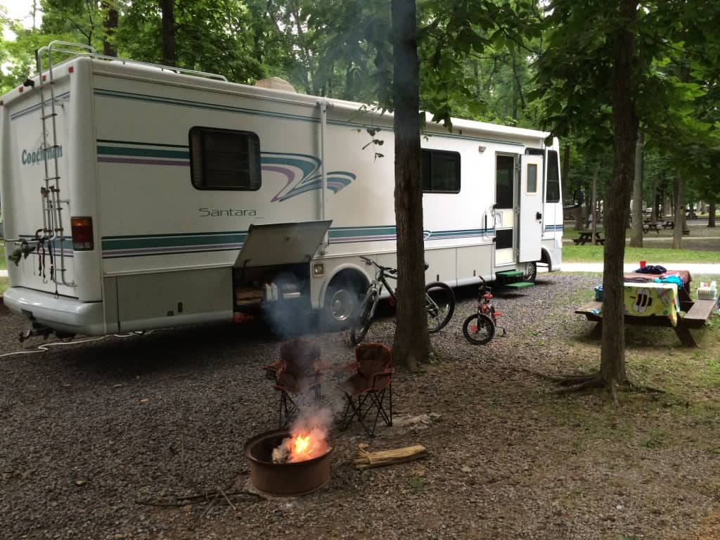 One of the (many) campgrounds we stayed at. This one in Gettysburg, PA.