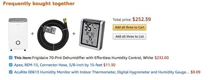 Amazon upsells