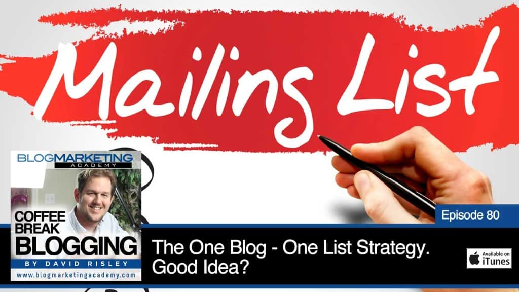 The One Blog – One List Strategy. Good Idea? (Episode #80)