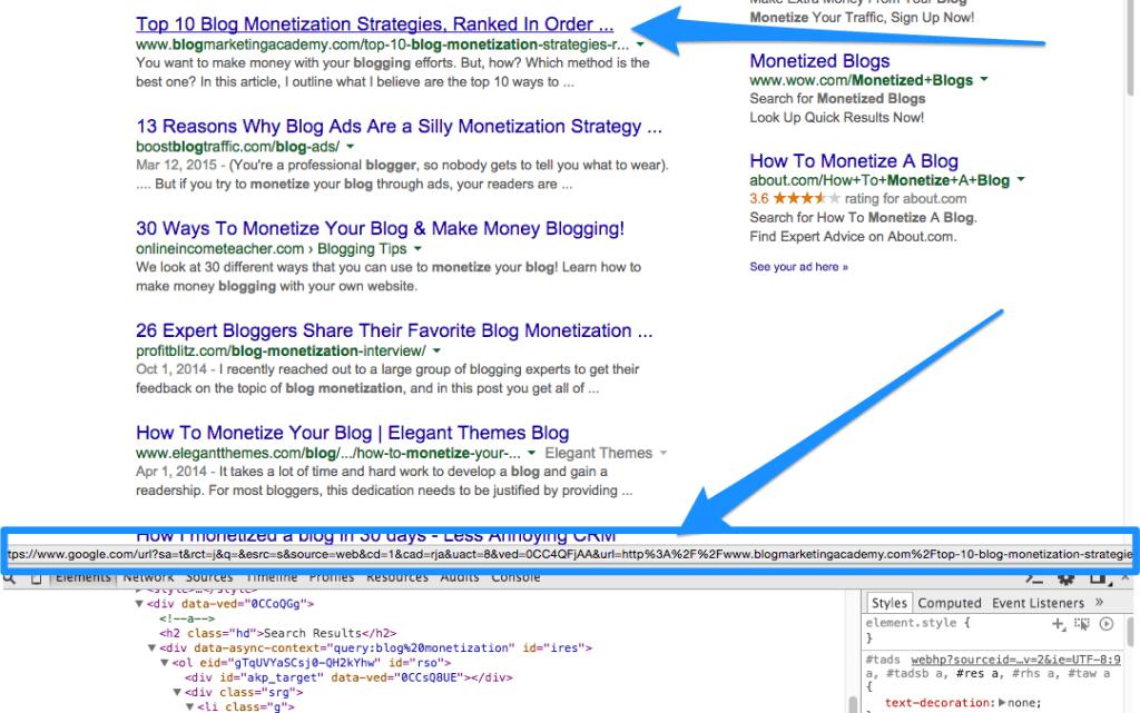 google-link-tracking