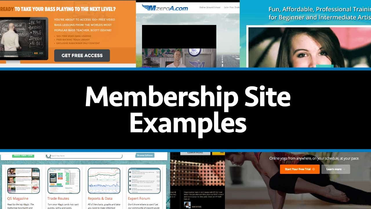 membership website software