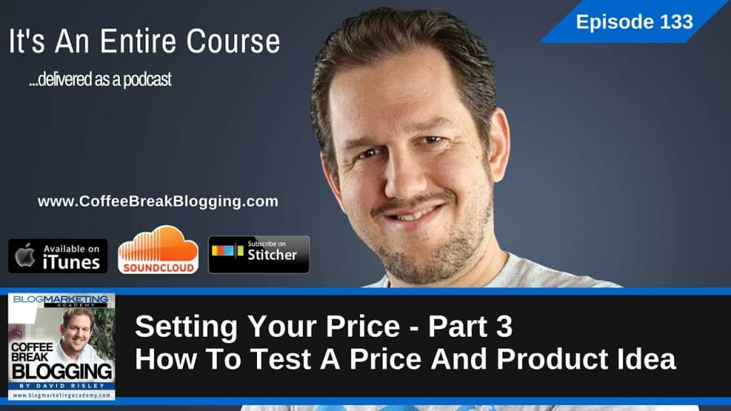 Setting Your Price Part 3 – How To Test A Price And Product Idea (Episode #133)