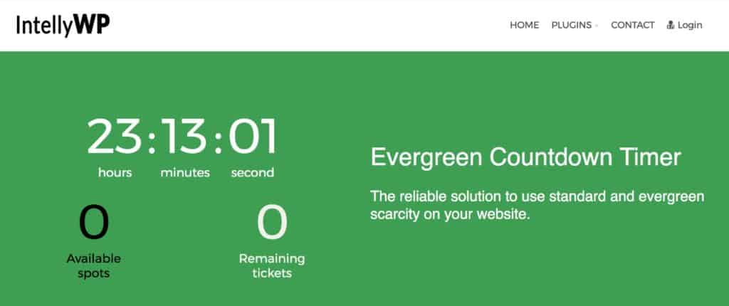 Evergreen Countdown Timer_-_IntellyWP