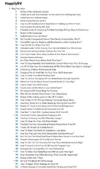52 items on my idea file :)